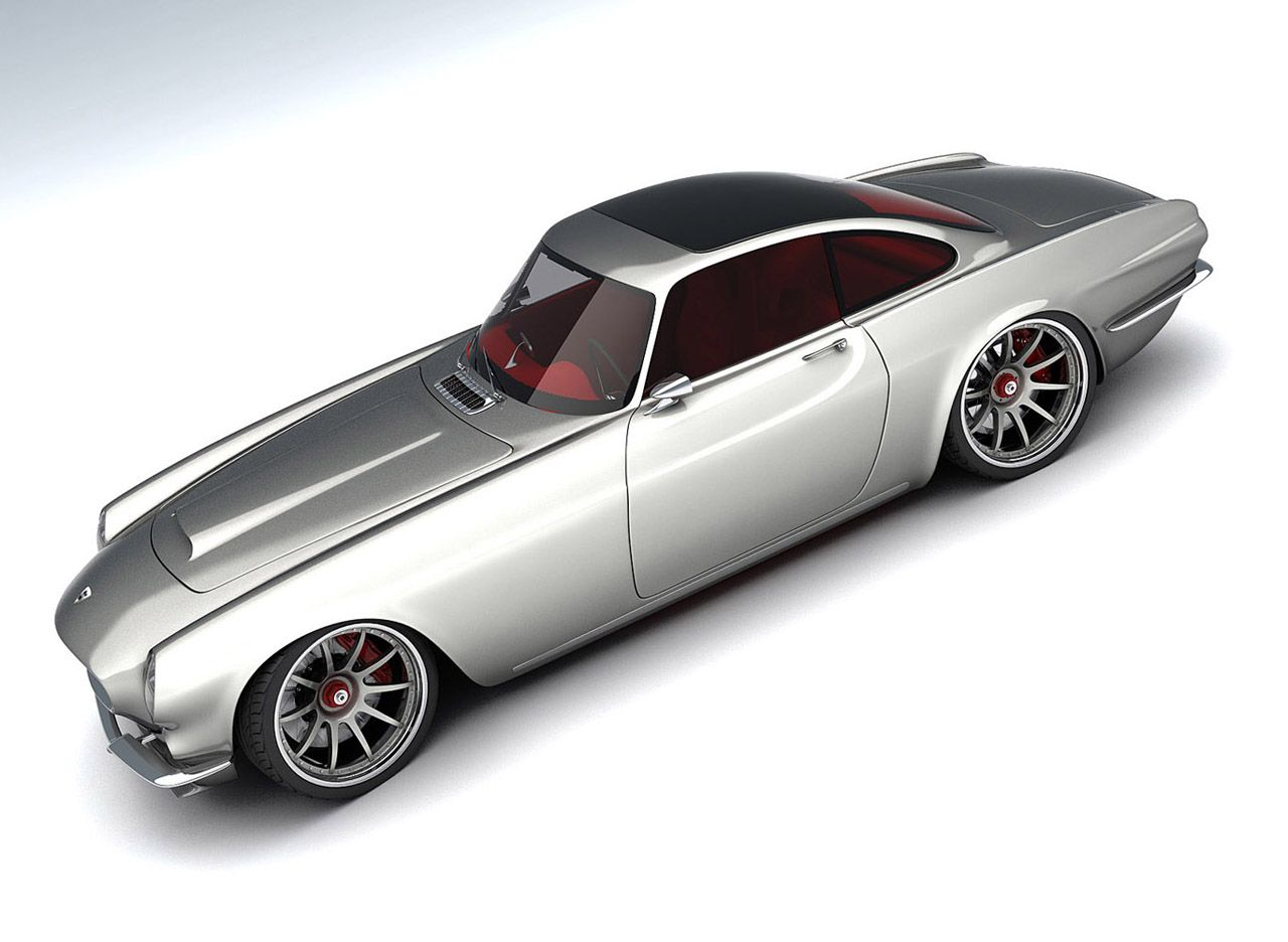 This is the vox volvo p1800 which was introduced at the car show in birmingham england it s the 50th anniversary edition of the 1962 p1800 exce