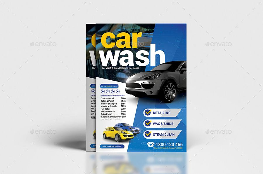 Car Wash Poster Flyer Template Wash Car Poster Template Car Wash Posters Car Wash Detail Car Wash