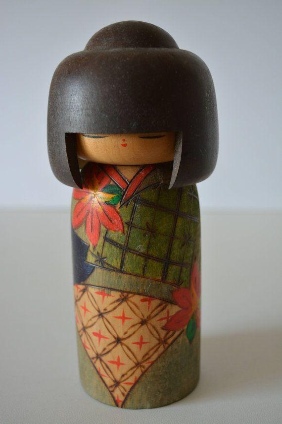 Kokeshi doll creative style by StyledinJapan on Etsy