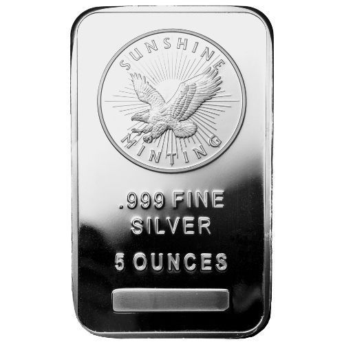 5 Oz Sunshine Silver Bar New Mintmark Si Sealed Ebay Silver Bars Silver Coins Silver Bullion
