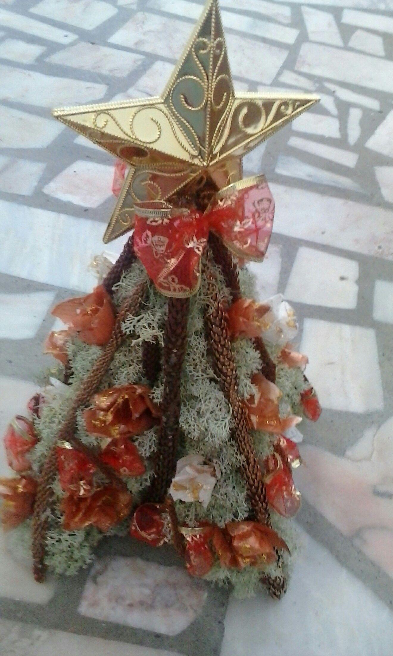 Arvore De Natal Feita De Casca De Cebola E Alho Arvore De Natal