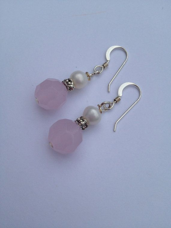Pink Glass Earrings by SharonKrug on Etsy, $18.95