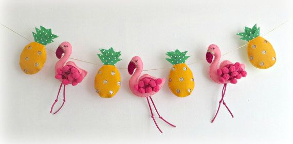 Image result for flamingo garland