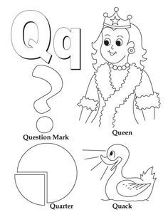 My A To Z Coloring Book Letter Q Coloring Page Alphabet Coloring