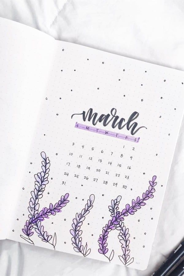 32 Best March Bullet Journal Cover Page Ideas - Bliss Degree
