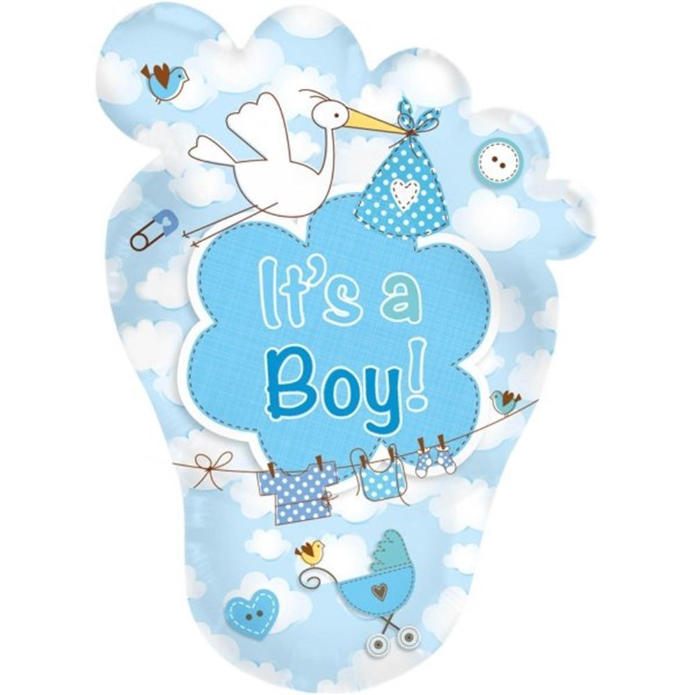 Super Giant Foil Balloon Babyfuss ItS A Boy Balloons For Birthday Folat Of