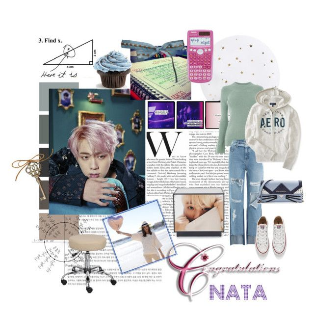 """""""Great job on the national exam, Nata!"""" by tokyotrekker ❤ liked on Polyvore featuring Lollipop, Warehouse, BOSS Hugo Boss, Mitchell Gold + Bob Williams, SJYP, Aéropostale, Converse and Karl Lagerfeld"""