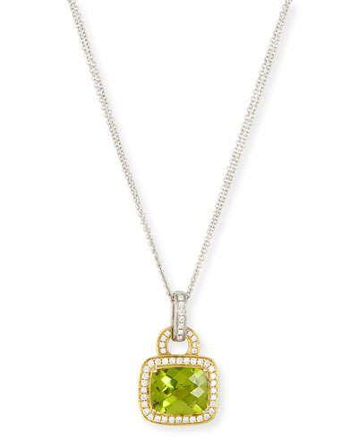 Frederic Sage Roma Morganite & Diamond Pendant Necklace u8AoDdA