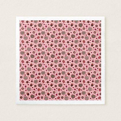 Pink Valentine Sweet Treats Pattern   Napkin - pattern sample design template diy cyo customize