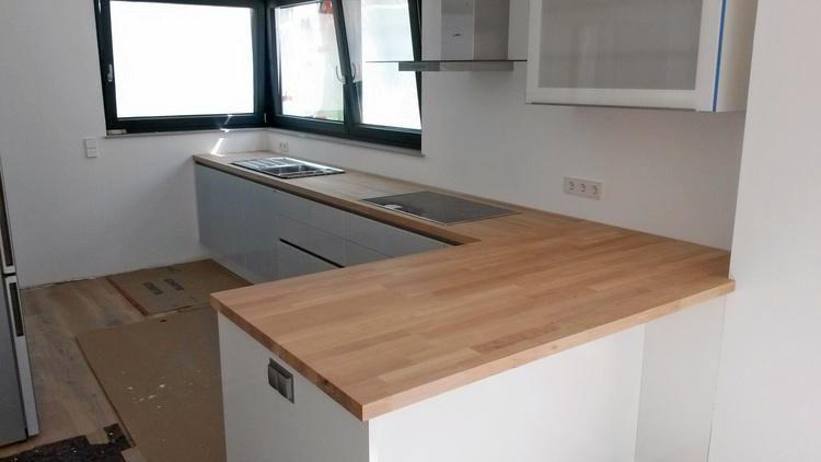 Einbau echtholz arbeitsplatte k che pinterest for Arbeitsplatte echtholz