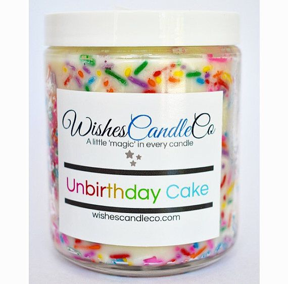 Unbirthday Cake Candle Smells Of Delicious Vanilla Birthday With Sprinkles Inside Sprinkle Placement Is Random And Varies