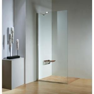 dreamwerks 32 in x 79 in frameless fixed shower door in chrome rh pinterest ca
