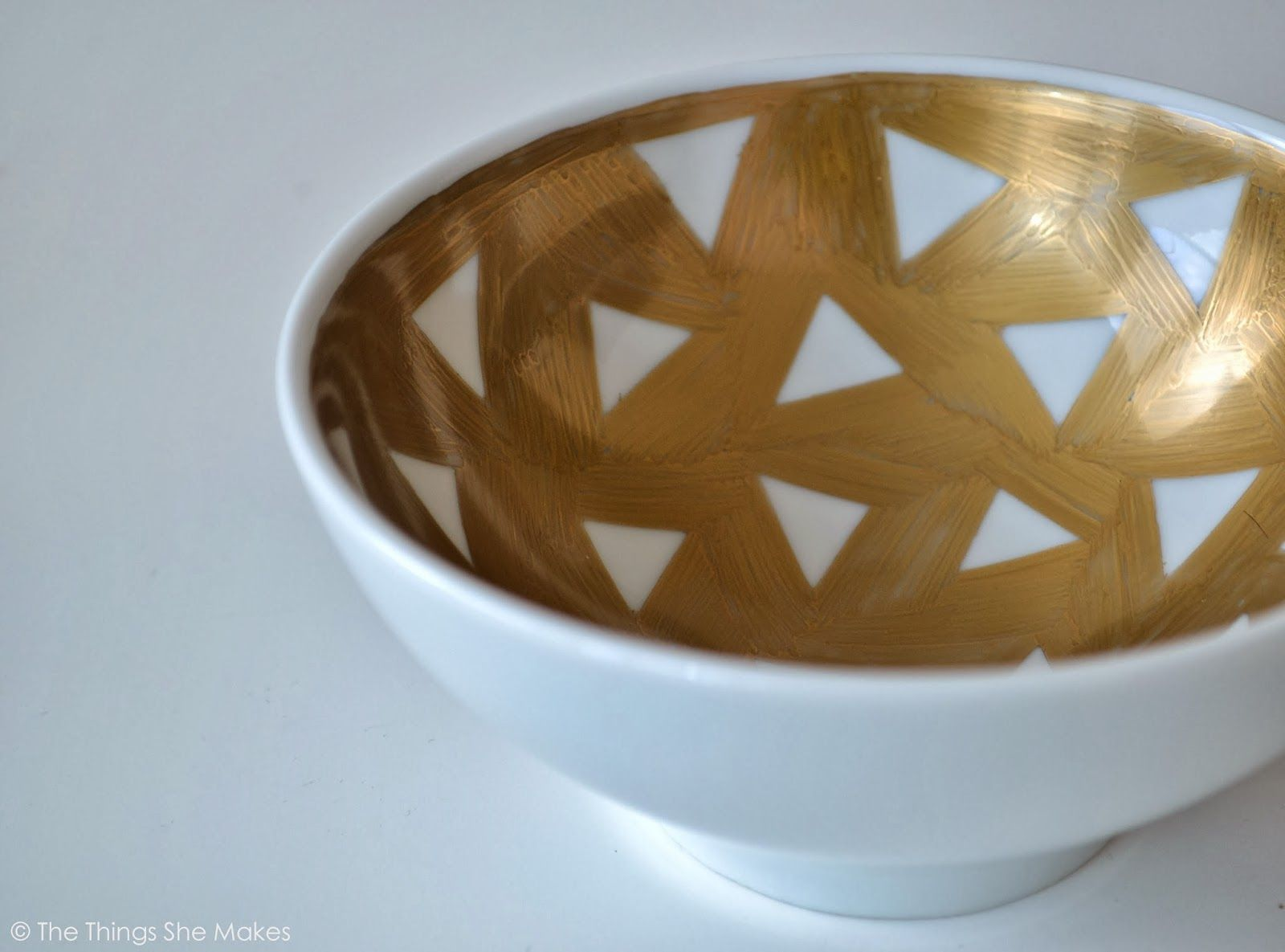 The Things She Makes: How to Make a Gold Sharpie Bowl