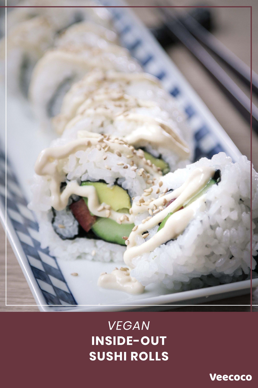 Vegan Japanese Sushi Rolls Vegan Japanese Vegan Japanese Food Sushi
