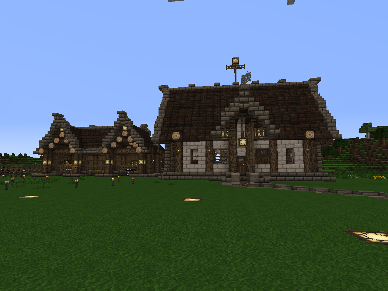 Horse Ranch House and Stables at spawn Elysium Crafting ... on daylight ranch house plans, minecraft log cabin floor plans, minecraft medieval castle plans, minecraft mansion plans, minecraft apartment complex plans, minecraft chicken coop plans, minecraft skyscraper plans,