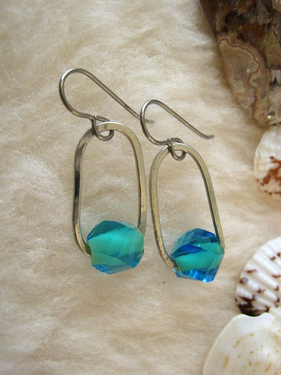 Niobium Earrings Suspension Hypoallergenic For Sensitive Ears Nickel Free