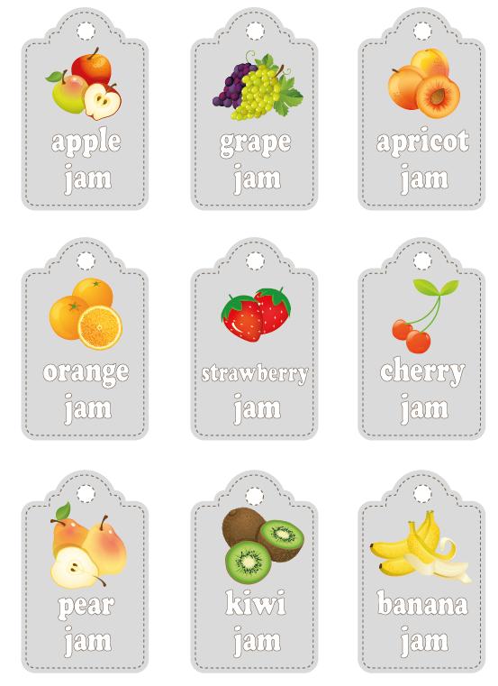 Extrêmement Etichette per marmellate, stampale | http://www.greenmagazine.it  YE62