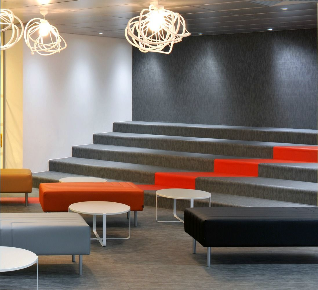 A Hub Of Inspiration At The British Library Office Space Inspiration Interior Bleacher Seating