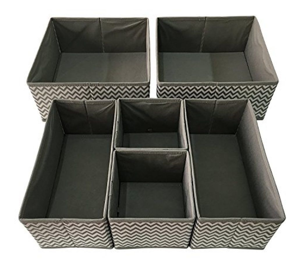 834e1ed6703e3 Sodynee Foldable Cloth Storage Box Closet Dresser Drawer Organizer Cube  Basket Bins Containers Divider with Drawers for Underwear
