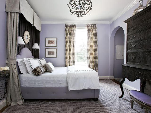 Stunning With Lavender Accents Home Wall Colour Home Purple Bedrooms