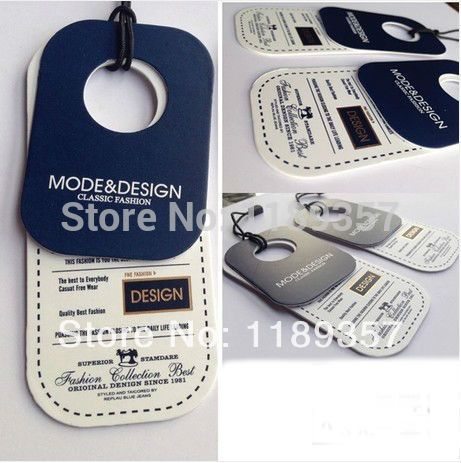 Customized Printing Hang Tags Clothing Hanging Tag Label