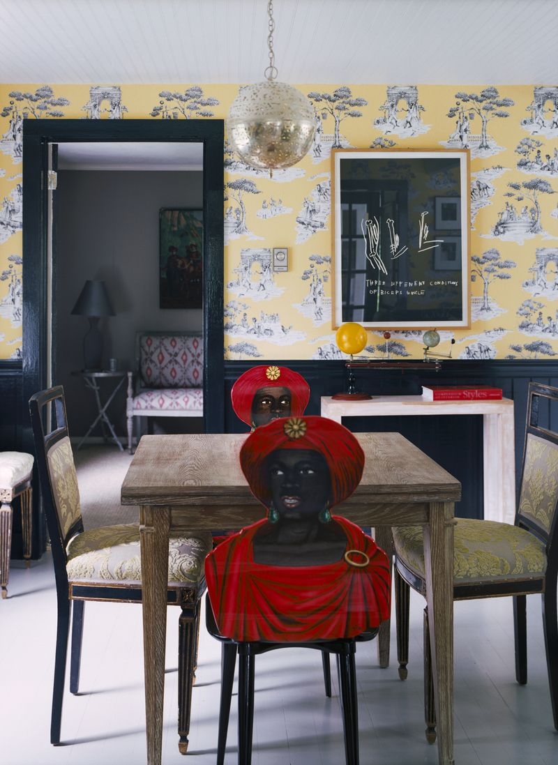Sheila Bridges Portfolio   Blackamoor Chairs U0026 Harlem Toile On Walls And  Chairs
