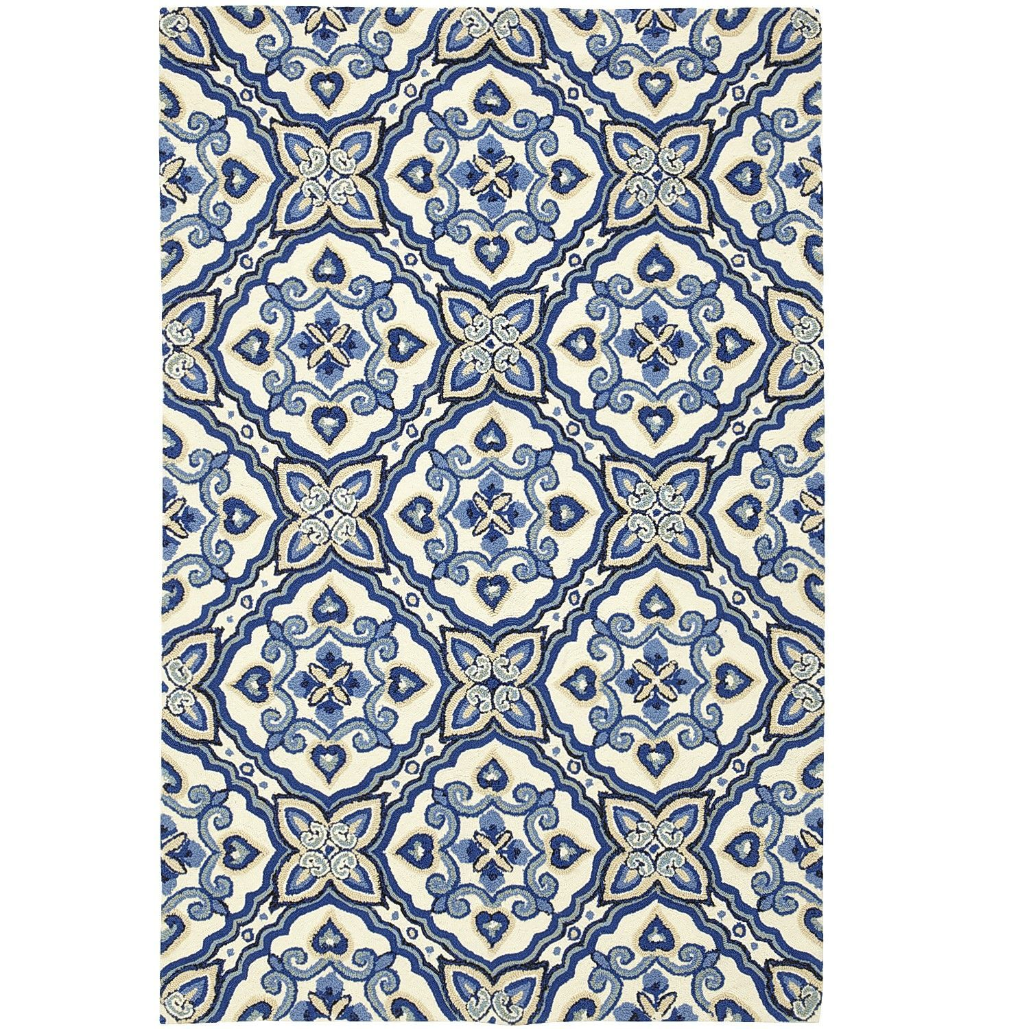 Mediterranean Tile Rug 5x8 sale at Pier e Too busy