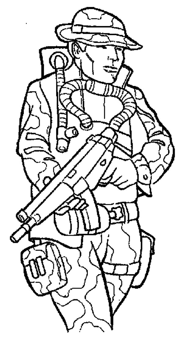 Army Soldier Coloring Page - Coloring Home | 1118x600