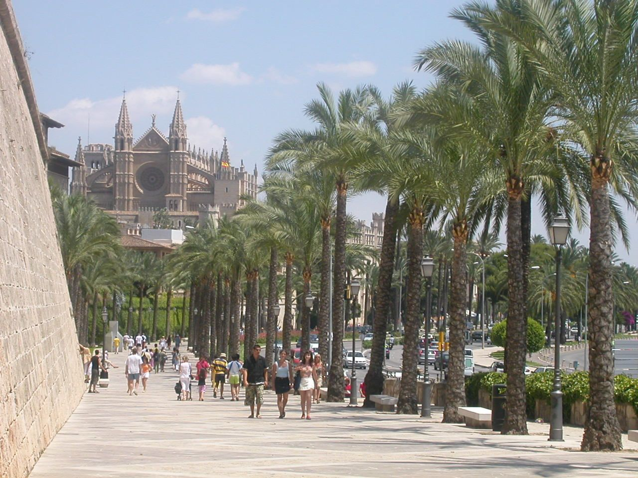 This is one of my most favorite places in the world. The Paseo Martimo in Palma de Mallorca, Spain