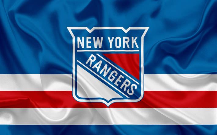 Download wallpapers New York Rangers, hockey club, NHL, emblem, logo, National Hockey League, hockey, New York, USA, Eastern Conference