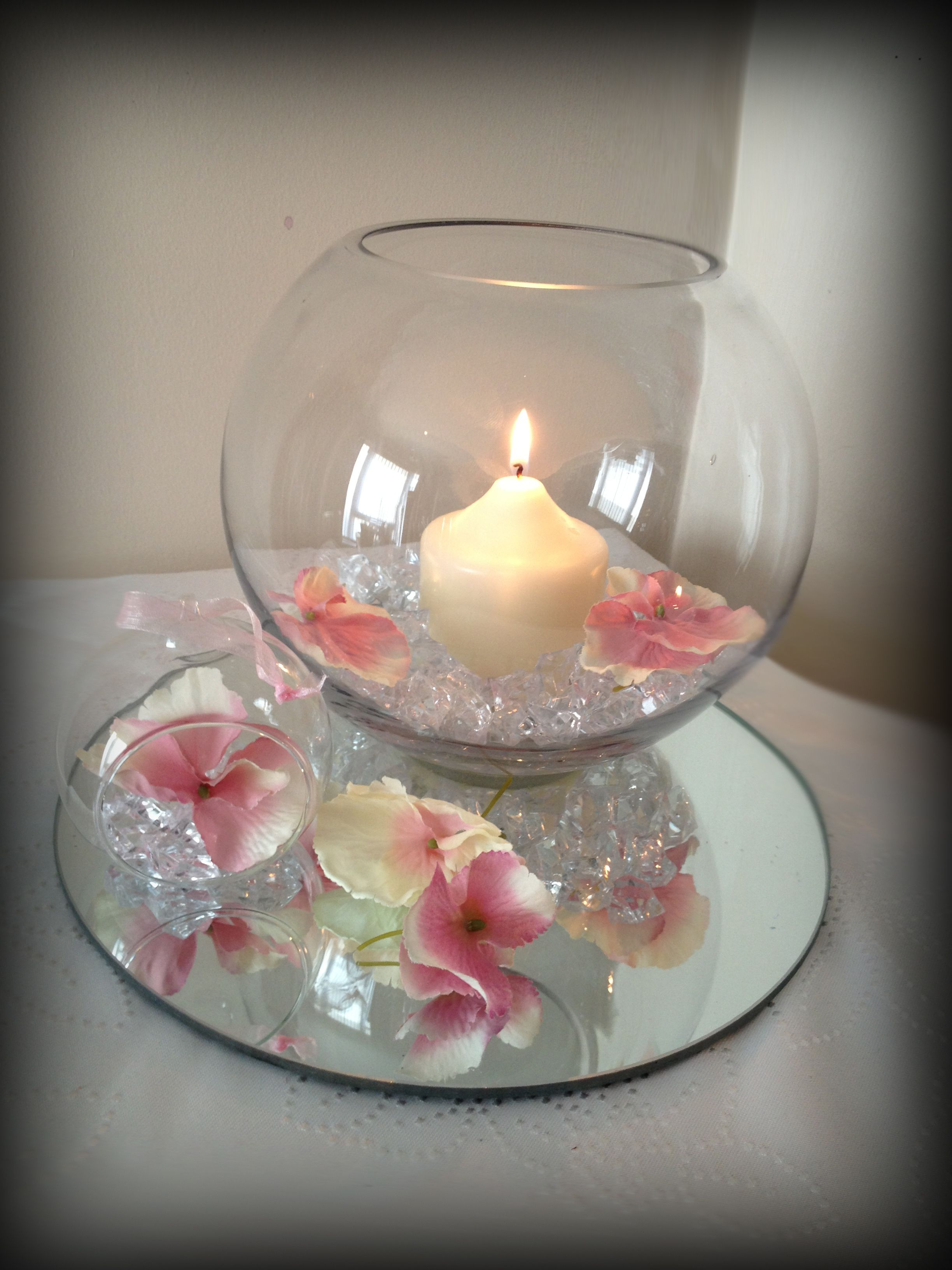 Image result for fishbowl centrepiece i love you