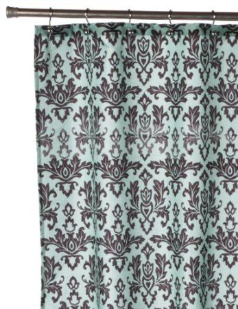 Amazoncom Carnation Home Fashions Damask Fabric Shower Curtain