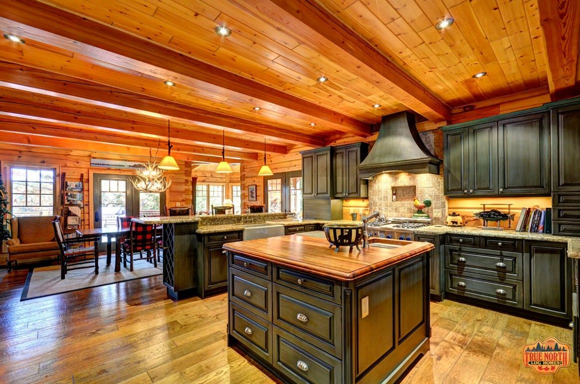 best ideas of rustic kitchen cabinet you ll want to copy in 2020 log home kitchens log cabin on kitchen interior top view id=98516