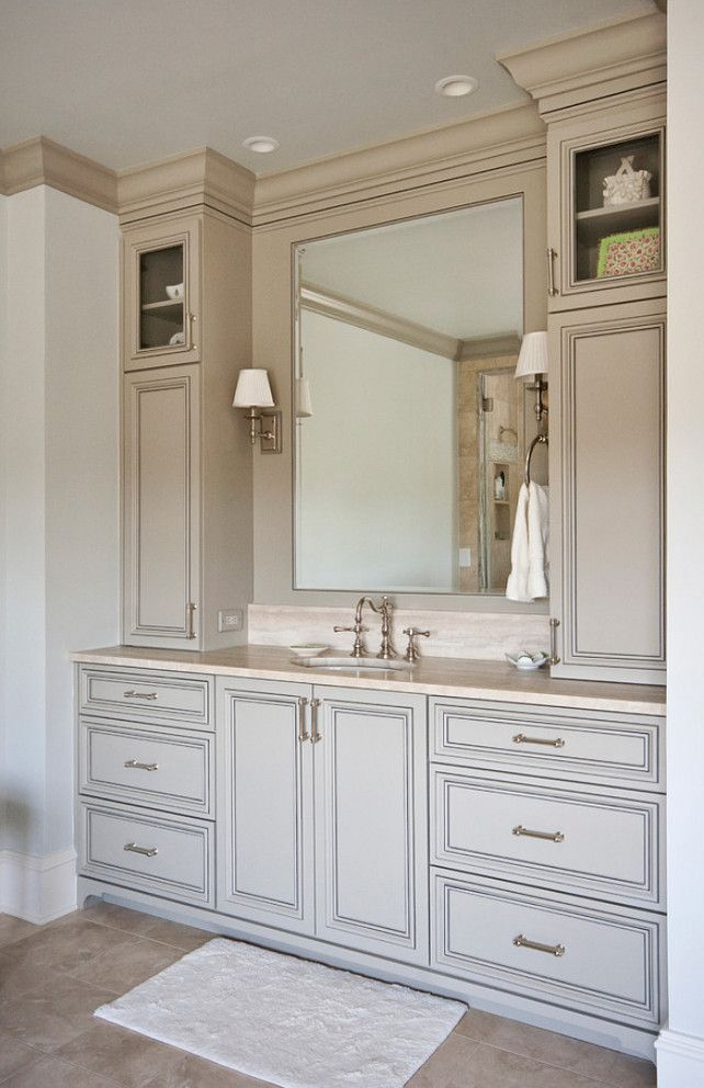 Bathroom Vanity Designs like the storage on either side not necessarily the style. vanity
