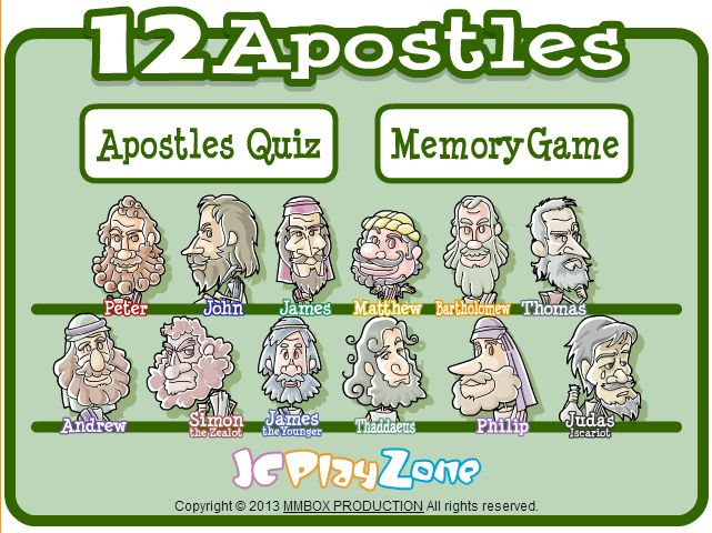 12 apostles game for kids bible games httpjcplayzone 12 apostles game for kids bible games httpjcplayzonegamesapostleapostlep fandeluxe Choice Image