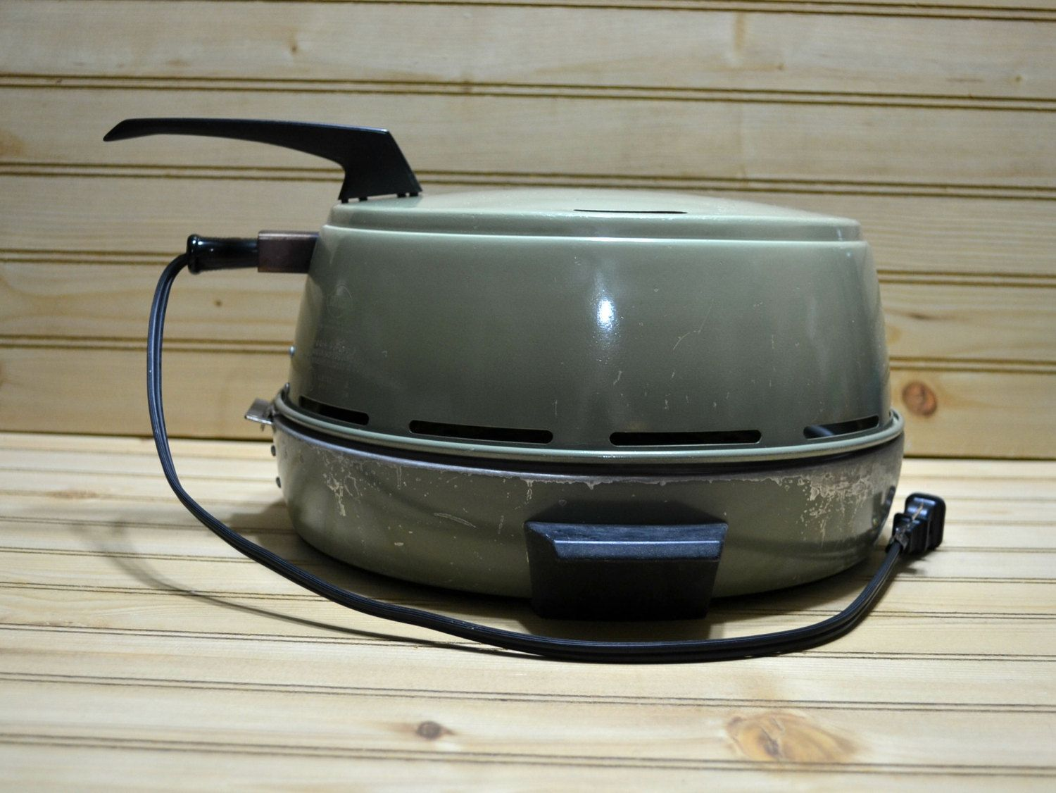 Vintage Mirror Electric Indoor Broiler Grill Oven Appliance