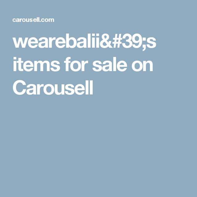 Wearebalii 39 S Items For Sale On Carousell Caro Sale On Sale