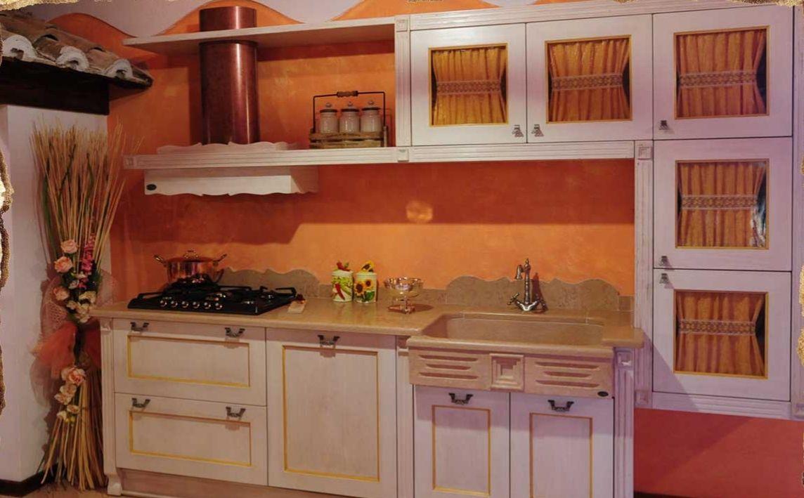Cucina stile shabby chic in muratura e legno cucine - Cucine in muratura shabby chic ...