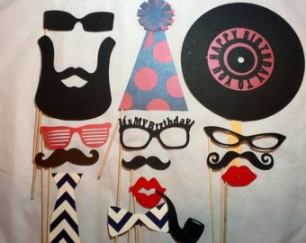 adult birthday party props props for birthday photo booth tutu and mustache party de cumpleaos