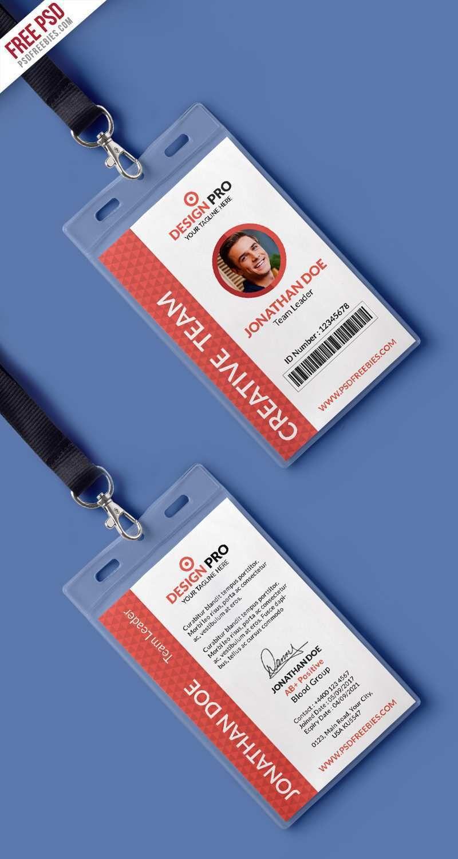 72 online id card vertical template psd templatesid card