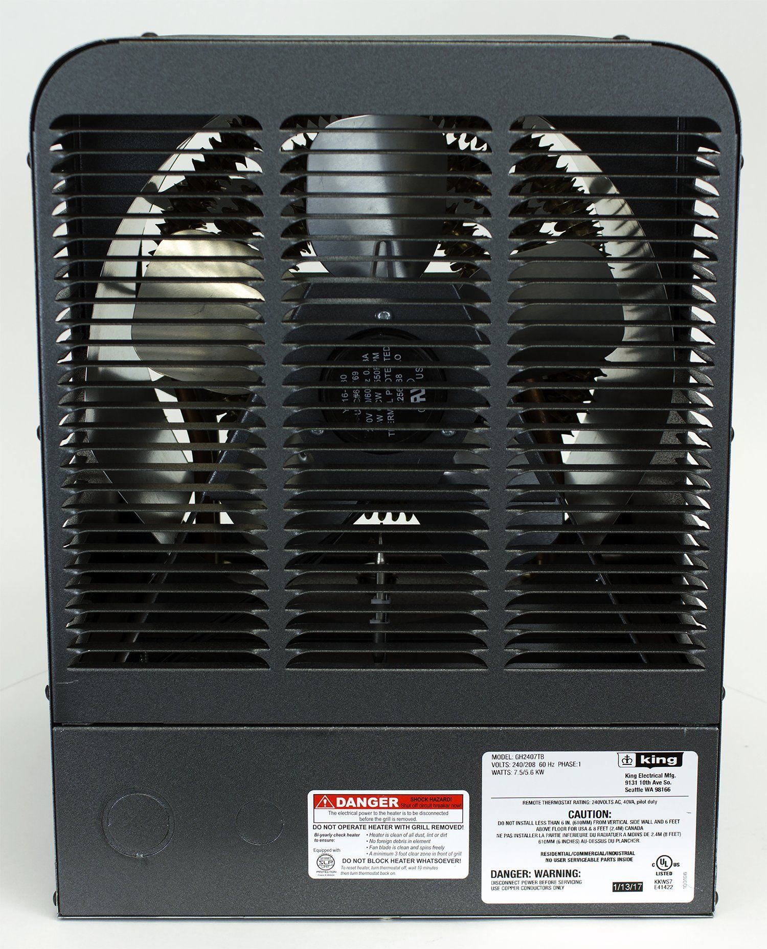 King Electric Gh2407tb 240v 7500w Garage Heater With Bracket And Thermostat Gray Click On The Image For Additional Garage Heater Space Heater Space Heaters