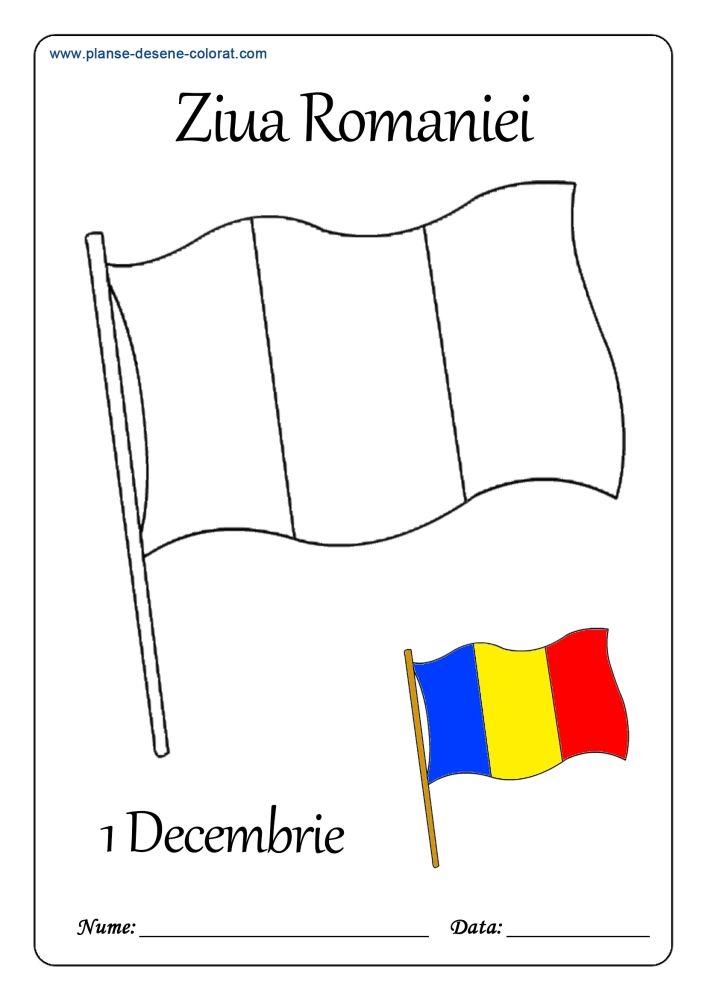 Desene De Colorat De Ziua Romaniei 1 Early Education