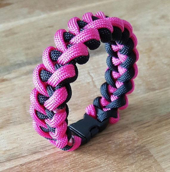 Bracelet paracorde rose