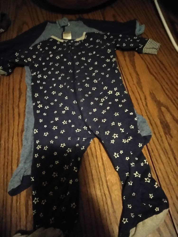 NEW Baby Gear Baby Boys Size 3-6 Mo 2 Pack Light Weight Footed Knit ...