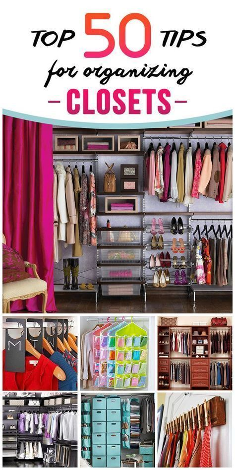 Tips And Organization Ideas For Your Closet Home Pinterest Wardrobe Organisation Organisations