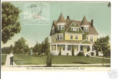 Jennie Shipley Residence 1909 Connersville Indiana Residences Shipley