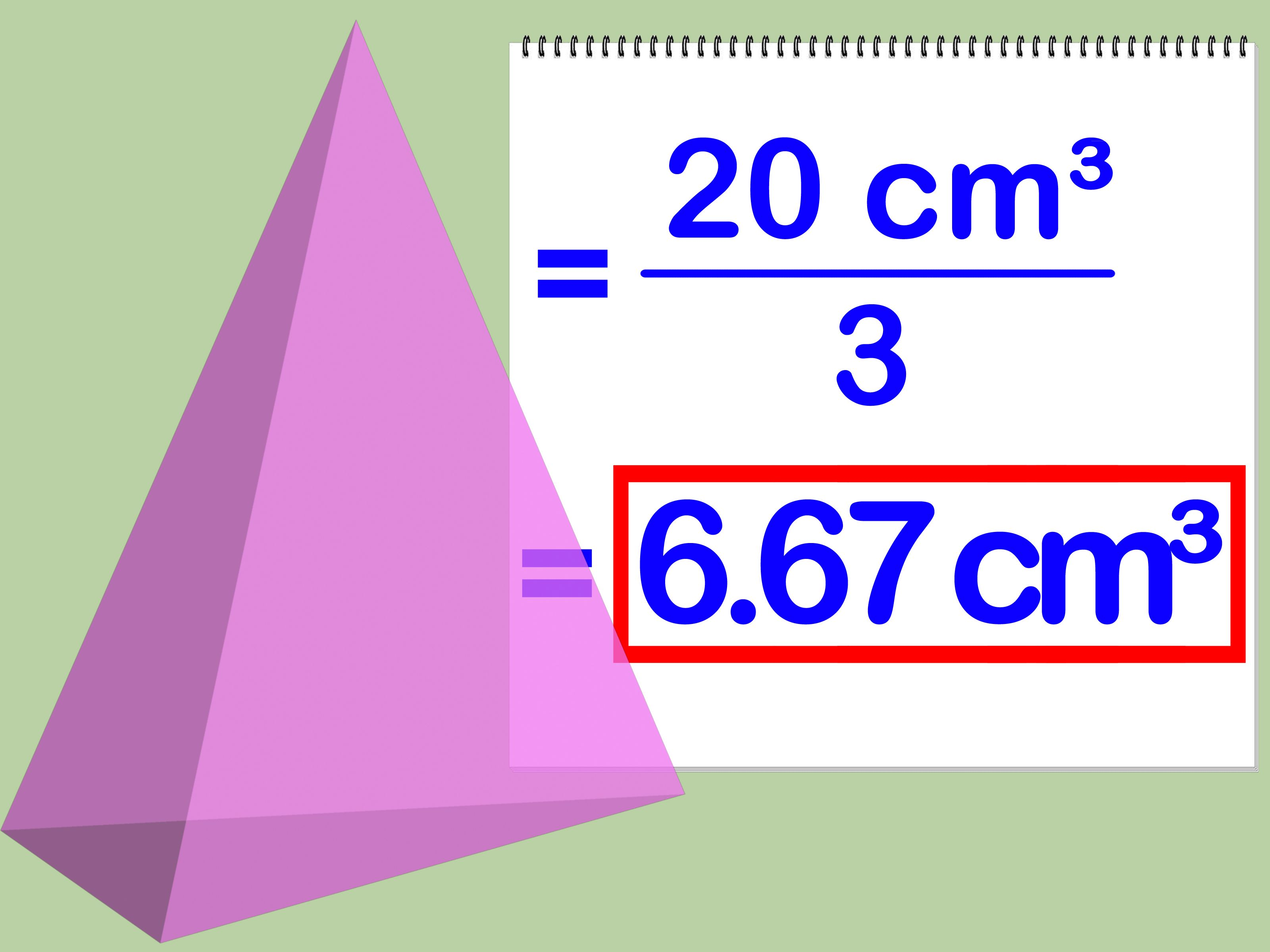 Calculate The Volume Of A Pyramid