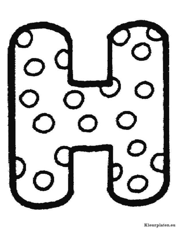 Kleurplaten Met Letters.Alfabet Kleurplaten Letters Alphabet Coloring Pages Alphabet