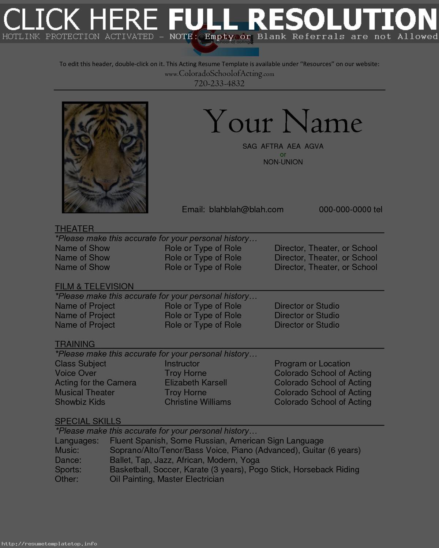 Acting Resume Template Download Freecareer Resume Template Career Resume Template Acting Resume Template Acting Resume Downloadable Resume Template