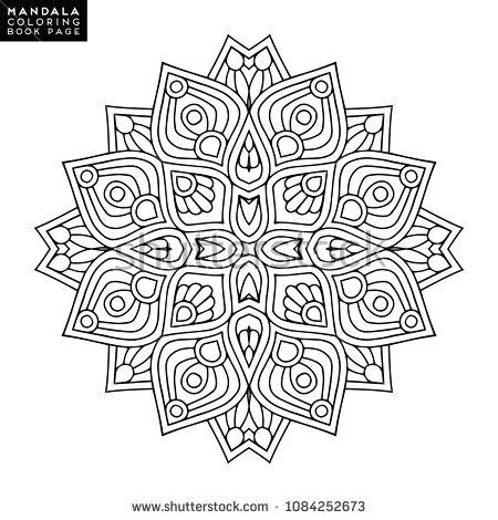 Vector mandala background | To Color - Mandalas | Pinterest ...